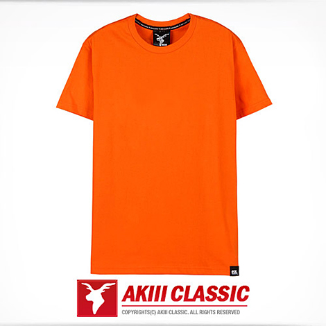 AKIII CLASSIC (AKIII CLASSIC) <BR> New Basic Short Sleeves T-shirt (NEW BASIC SHORT SLEEVE T-SHIRTS) Orange <BR>