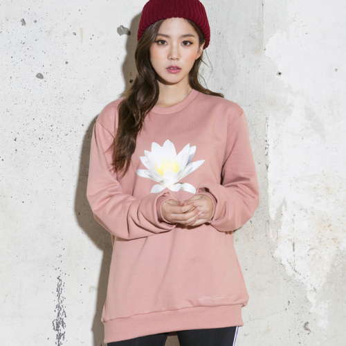 <b><font color=red>AKIII CLASSIC</font></b> <br> Flower Man to man T-shirt (WATER LILY) <br> Pink