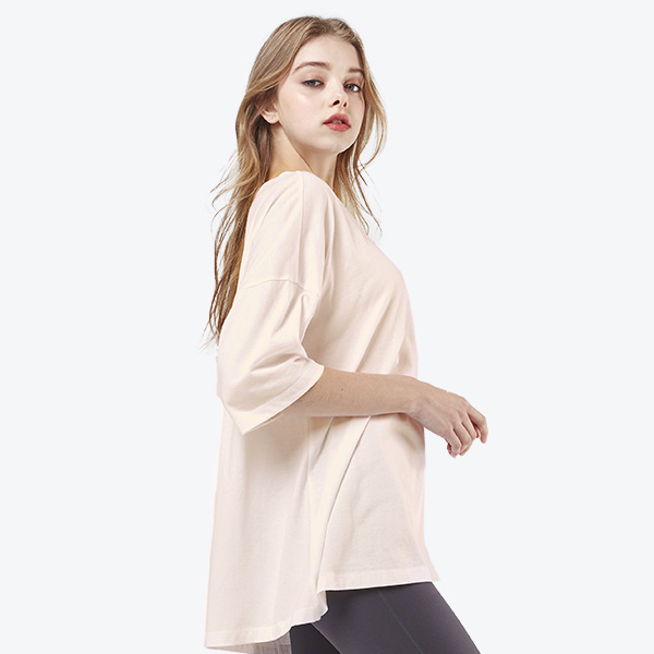 loose fit Short Sleeves T-shirt <br> Pink