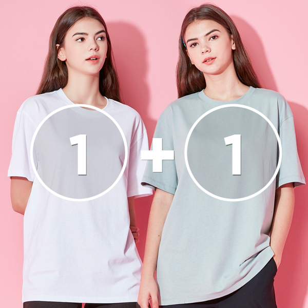 [1+1 EVENT] All-day Short Sleeves T-shirt